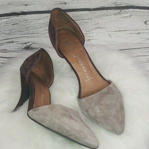 Jeffrey Campbell Callista suede D'orsay heels 7.5